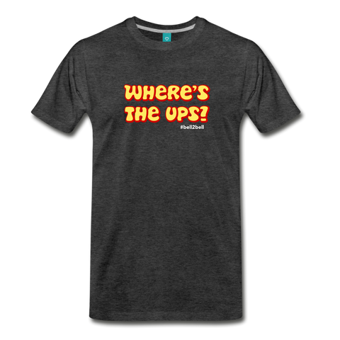 Where's The Ups? - Graphic Tee - charcoal gray