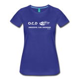 Obsessive Car Disorder - Woman's Graphic Tee - royal blue