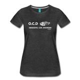 Obsessive Car Disorder - Woman's Graphic Tee - charcoal gray