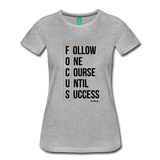 FOCUS - Womans Graphic Tee - heather gray