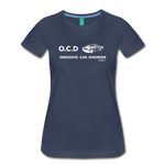Obsessive Car Disorder - Woman's Graphic Tee - navy