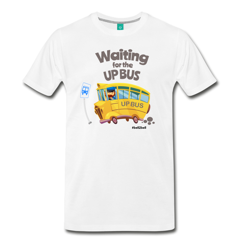 Waiting For The Up Bus - Graphic Tee - white