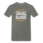 Low Ball Blonde - Graphic Tee - asphalt