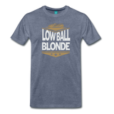 Low Ball Blonde - Graphic Tee - heather blue