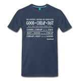 Three Kinds of Services - Graphic Tee - navy