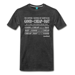 Three Kinds of Services - Graphic Tee - charcoal gray