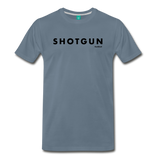 Shotgun Graphic Tee - Black Text - steel blue