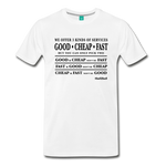 3 Kinds Of Services - Graphic Tee - white