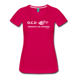 Obsessive Car Disorder - Woman's Graphic Tee - dark pink