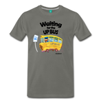 Waiting For The Up Bus - Graphic Tee - asphalt