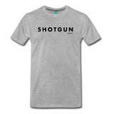 Shotgun Graphic Tee - Black Text - heather gray