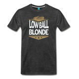Low Ball Blonde - Graphic Tee - charcoal gray