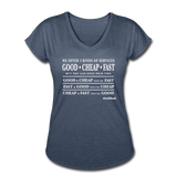 Three Kinds of Services - Graphic Tee - navy heather