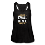 Low Ball Blonde - Flowy Tank - black