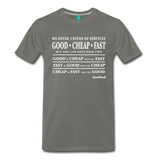 Three Kinds of Services - Graphic Tee - asphalt