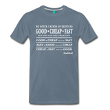 Three Kinds of Services - Graphic Tee - steel blue