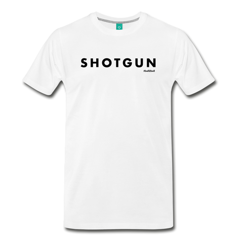 Shotgun Graphic Tee - Black Text - white