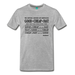 3 Kinds Of Services - Graphic Tee - heather gray