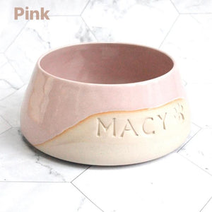 Personalised Glazy Spaniel Bowl *MTO*