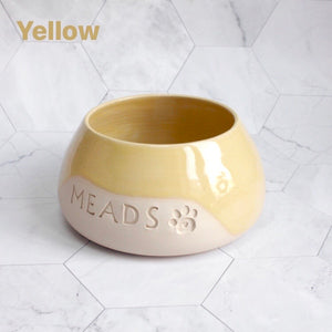 Personalised Glazy Spaniel Bowl