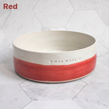 Load image into Gallery viewer, Personalised Two-Tone Pet Bowl *MTO*