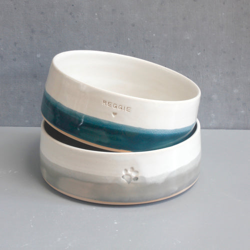 Personalised Two-Tone Pet Bowl