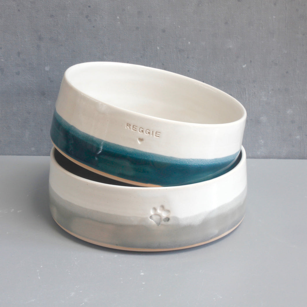 Personalised Two-Tone Pet Bowl *MTO*