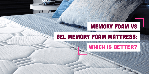 Memory foam vs gel mattress banner