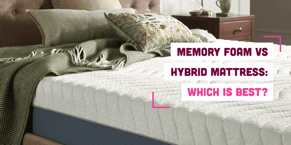 Memory foam vs hybrid mattress banner