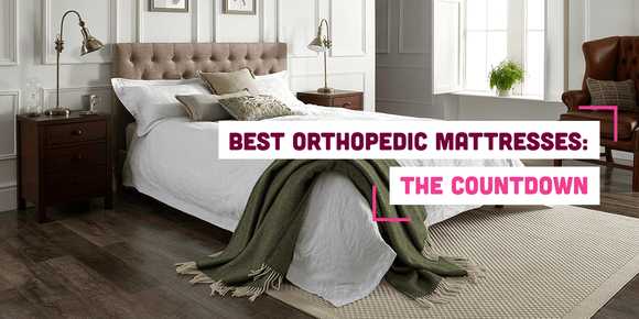 Orthopedic mattress in bedroom with text