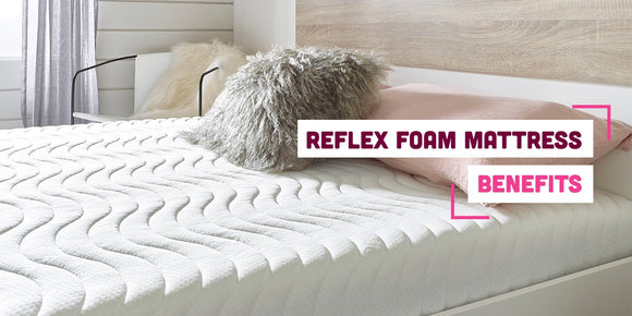 Essentials reflex foam mattress with text