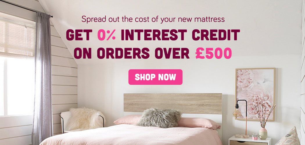 0% interest credit mattress banner