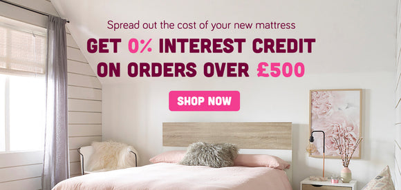 Interest free credit on memory foam mattresses