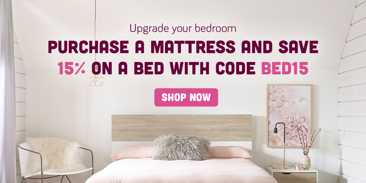 Bed discount offer banner