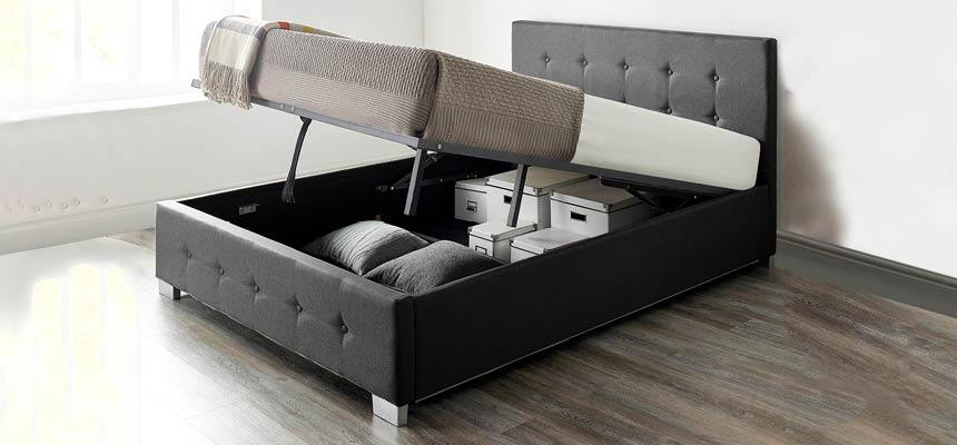 Essentials Homestarter Ottoman Bed Mattress Bundle