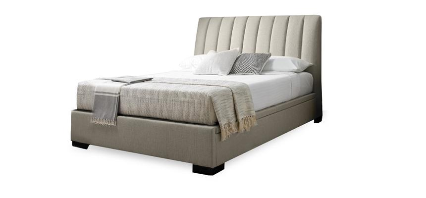 Kaydian Lanchester Upholstered Fabric Ottoman Bed Frame - Memory Foam Warehouse