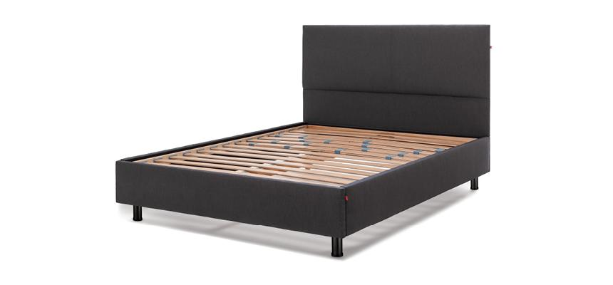 Sid Noir Slatted Bed