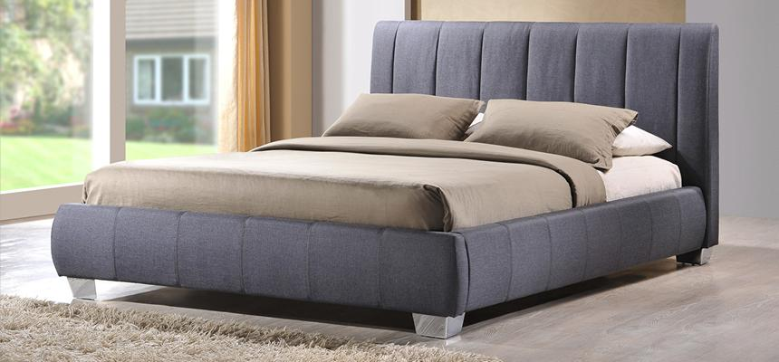 Braunston Fabric Bed Frame - Memory Foam Warehouse