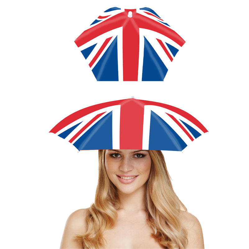 New in for VE Day 75. Union Jack Umbrella Hat.