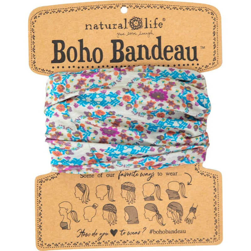Natural Life Women's Boho Grey Flower Stamp Boho Bandeau