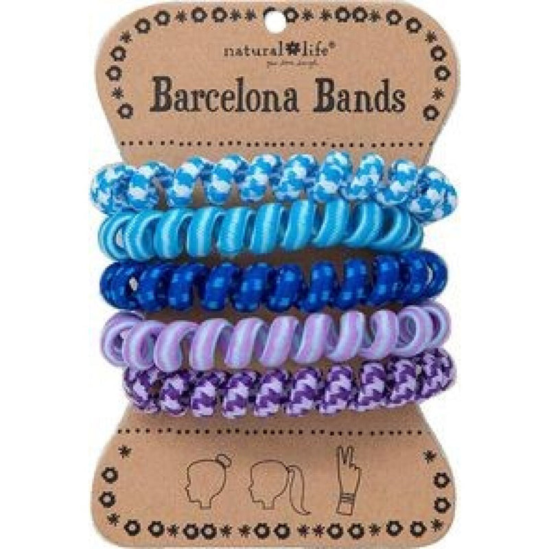 Natural Life Women's Boho Barcelona Paracord Blue Hair Bands