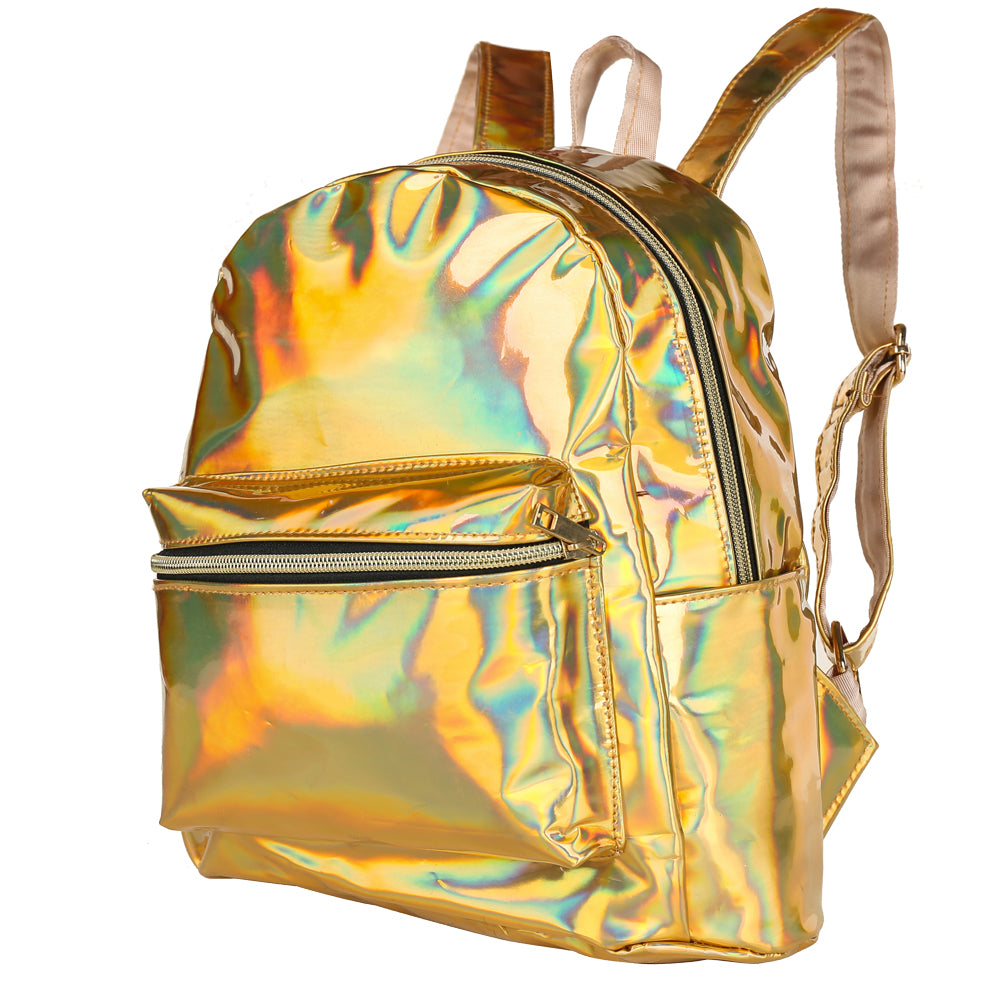 80s/ 90s Metallic Festival back pack, 80's dressing up, Summer Festival, Concerts gold