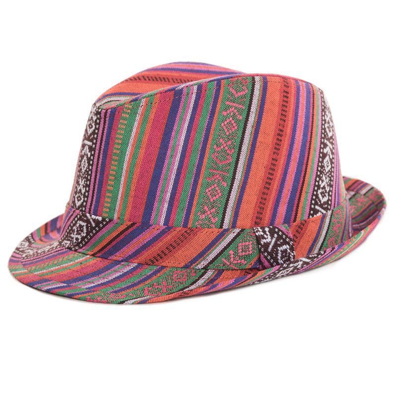 Adults Unisex Aztec Trilby Fashion Summer Hat