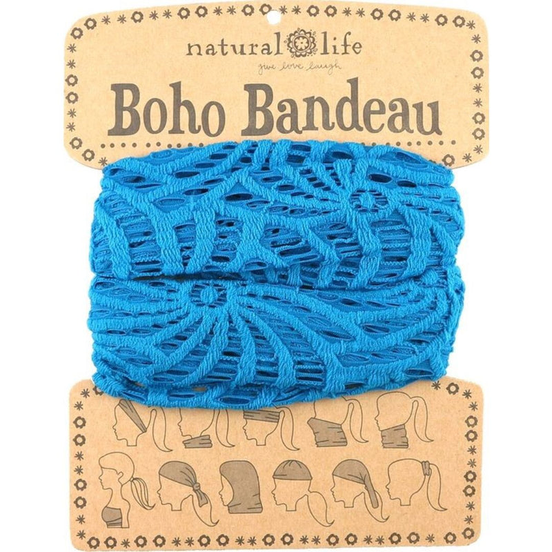 Natural Life Women's Boho Blue Crochet Boho Bandeau