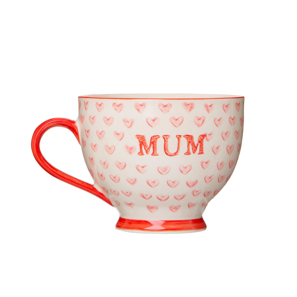 Sass & Belle Bohemian Red Hearts Mum Mug