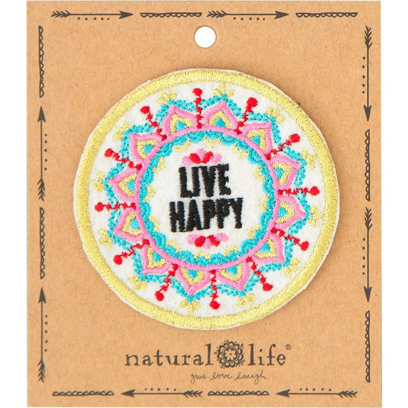 Natural Life Mandala Live Happy Patch
