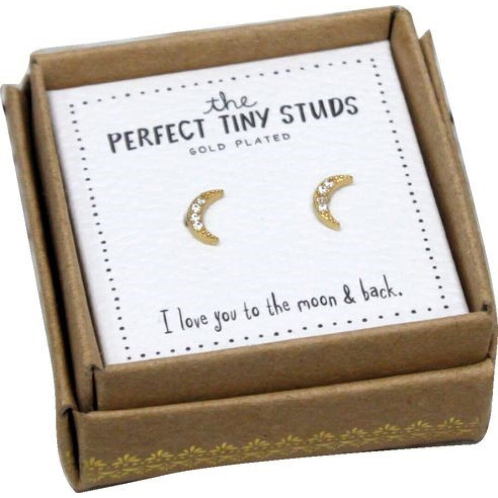 Natural Life Perfect Tiny Studs - Moon