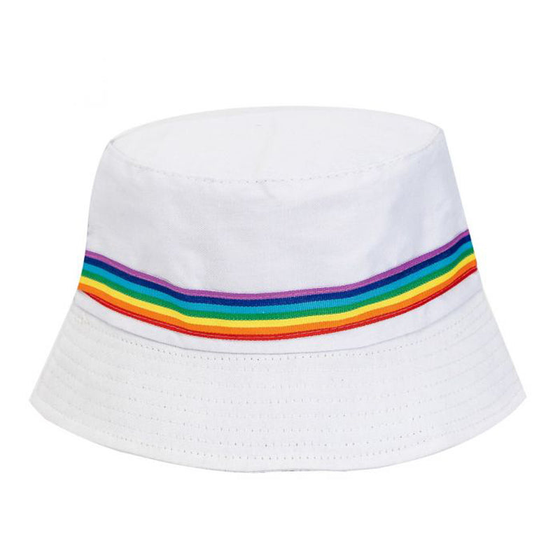 Cotton Unisex Rainbow Pride Sun Bucket Hat