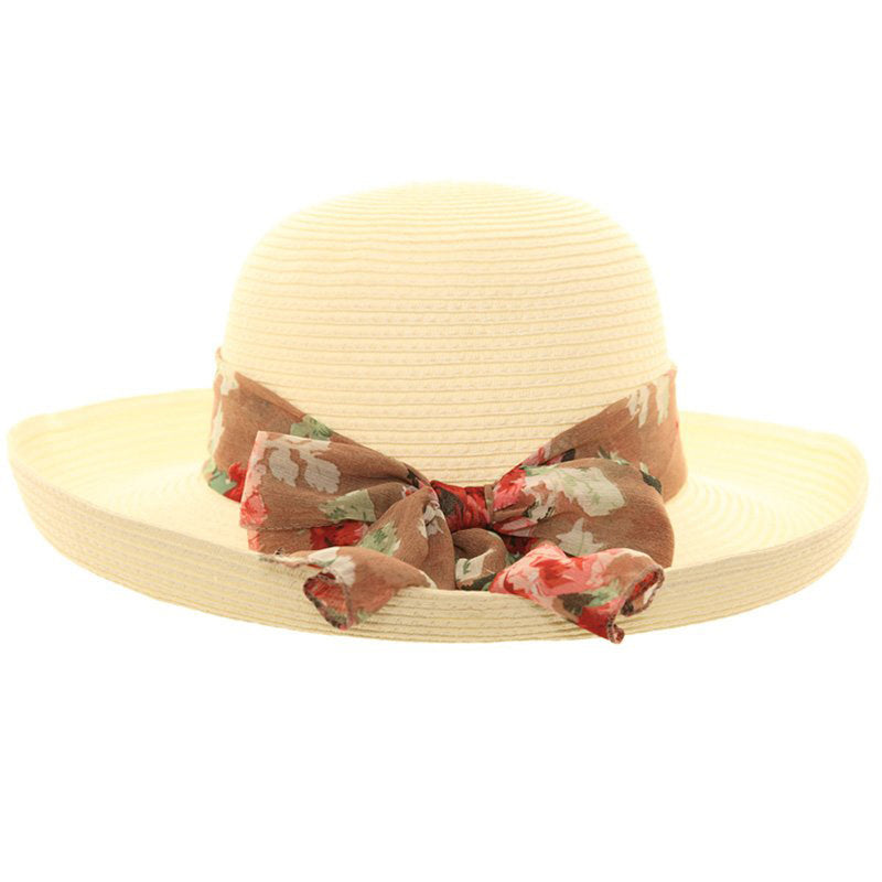 Ladies Crushable Up Brim / Scarf Summer Fashion Hat