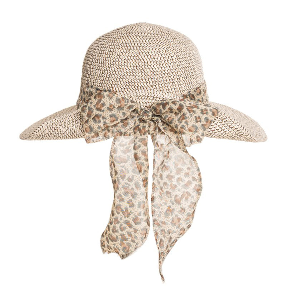 Ladies Short Brim Straw Summer Fashion Hat with Detail Band/Straw bow